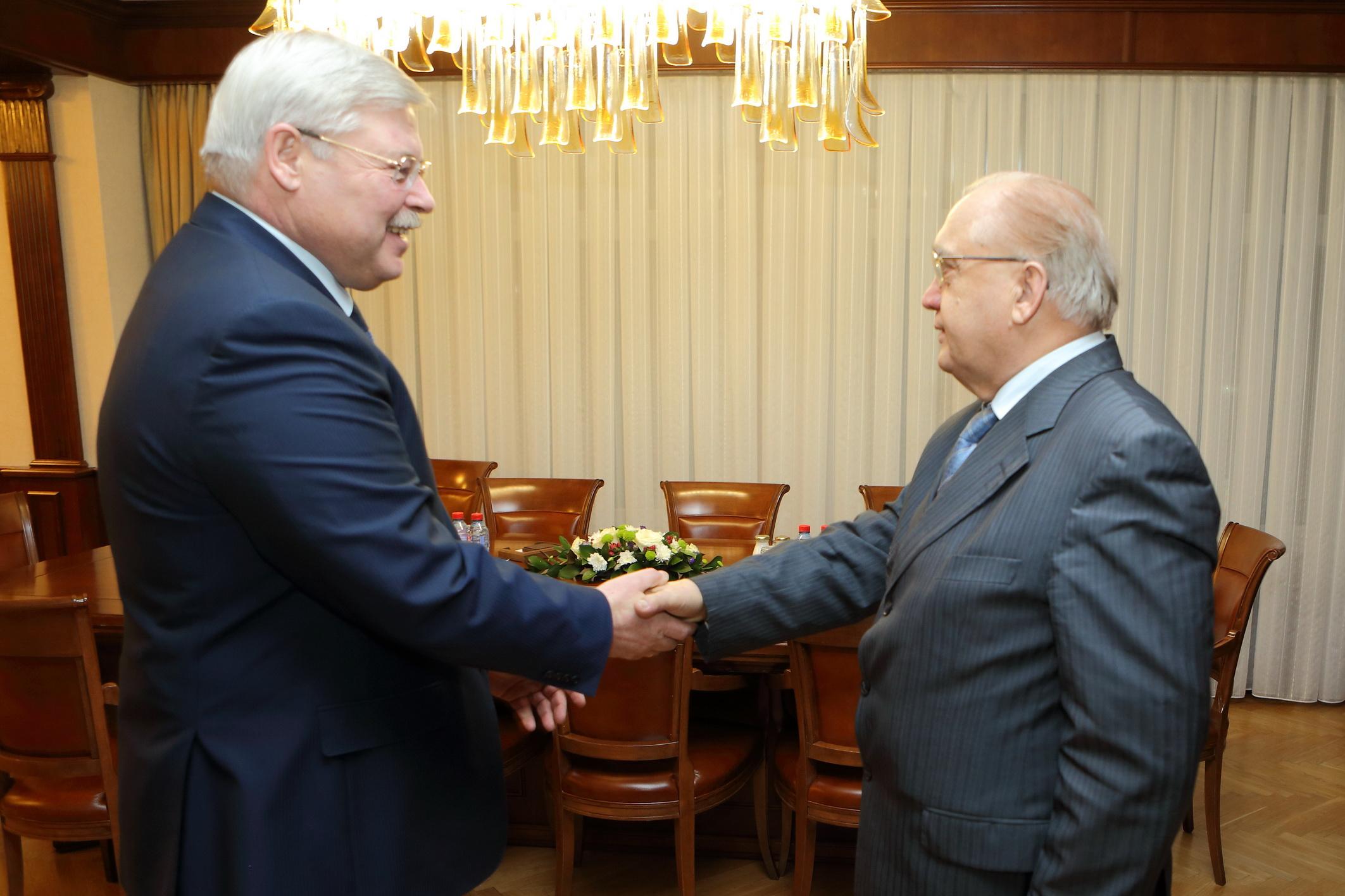 Губернатор и Виктор Садовничий провели рабочую встречу